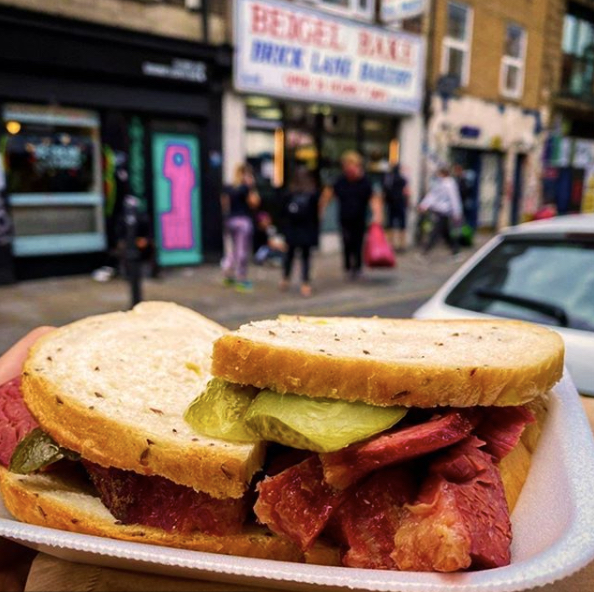 Salt beef sandwich on rye